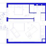 Rubikum for Three apartment in Ljubljana designed by Arhitektura d.o.o.