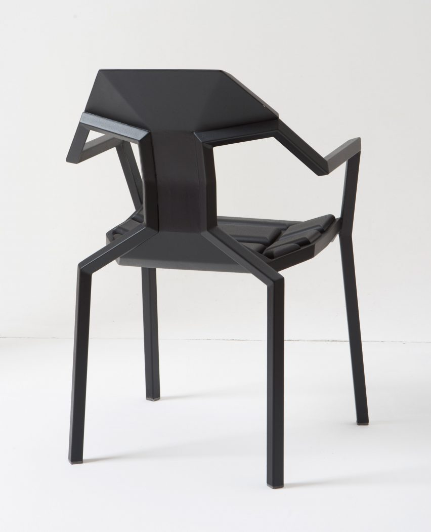 Sandro Lominashvili's ant-like Allo chair is constructed like a puzzle