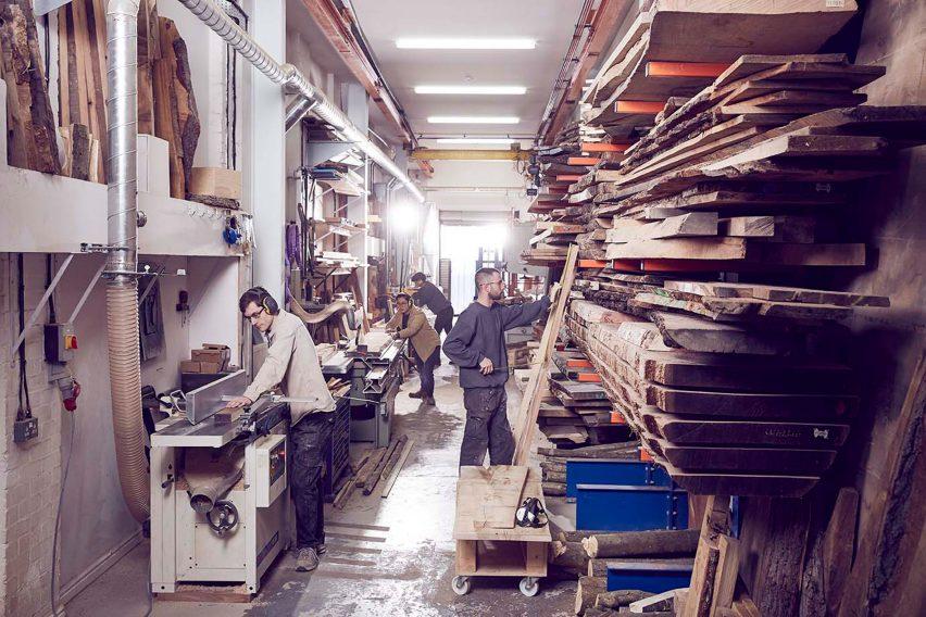 Sebastian Cox's London workshop