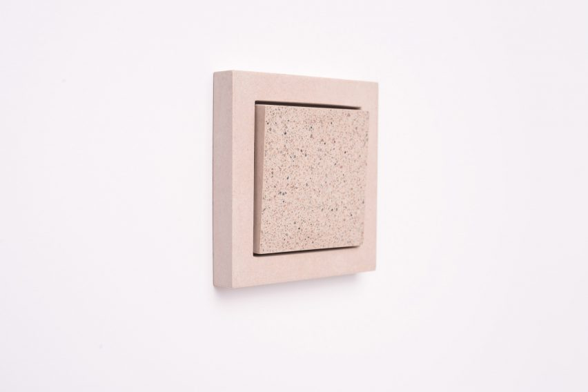 Sekhina designs minimal light switches and sockets from concrete