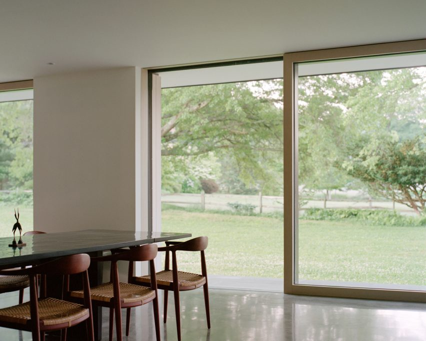Bleached Cedar Frames Orchard From Sheffield House In Massachusetts