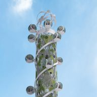 Spiral Tower is concept for an observation tower ride powered by a windmill
