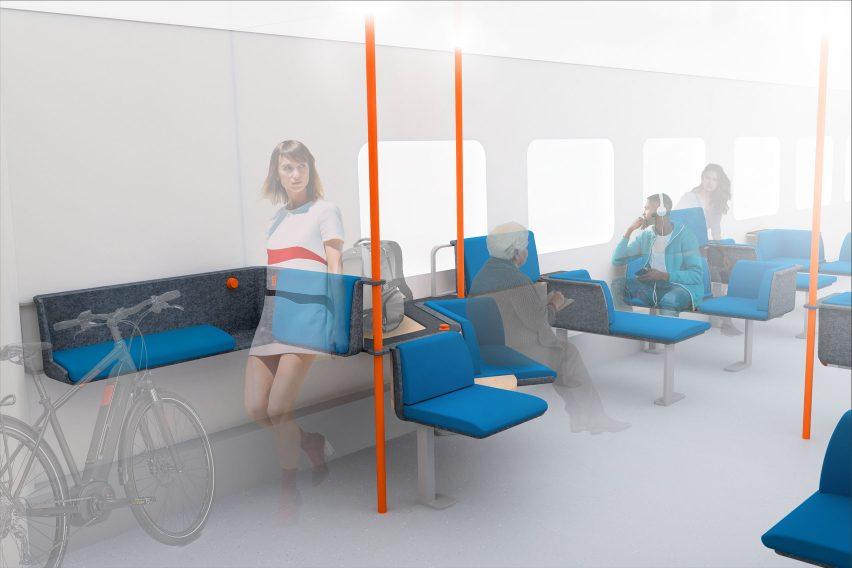 Modular Commuter Seats by Clemens Beyerlein