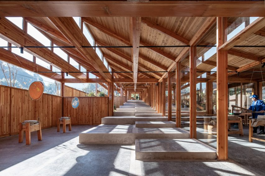 Wooden tofu factory in village of Caizhai, China, by DnA_Design and Architecture