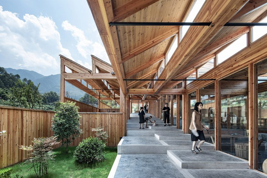 Wooden tofu factory invillage of Caizhai, China, by DnA_Design and Architecture