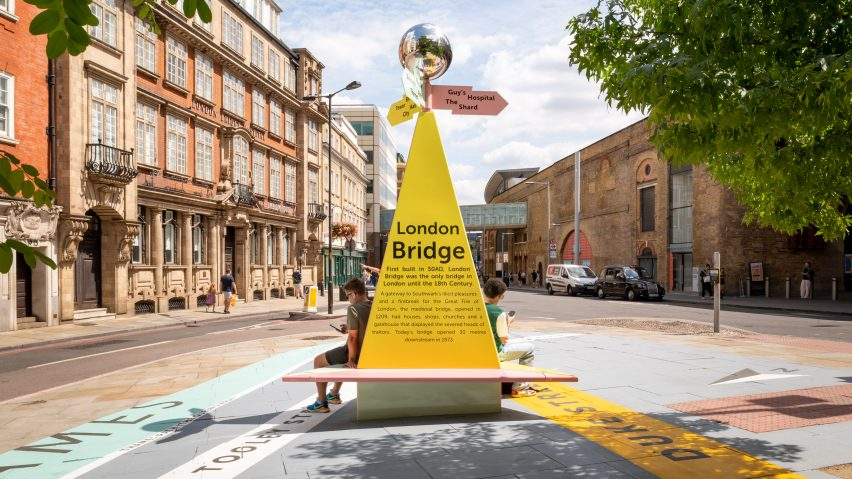 Charles Holland Architects designs The Tooley Street Triangle wayfinding installation for the London Festival of Architecture