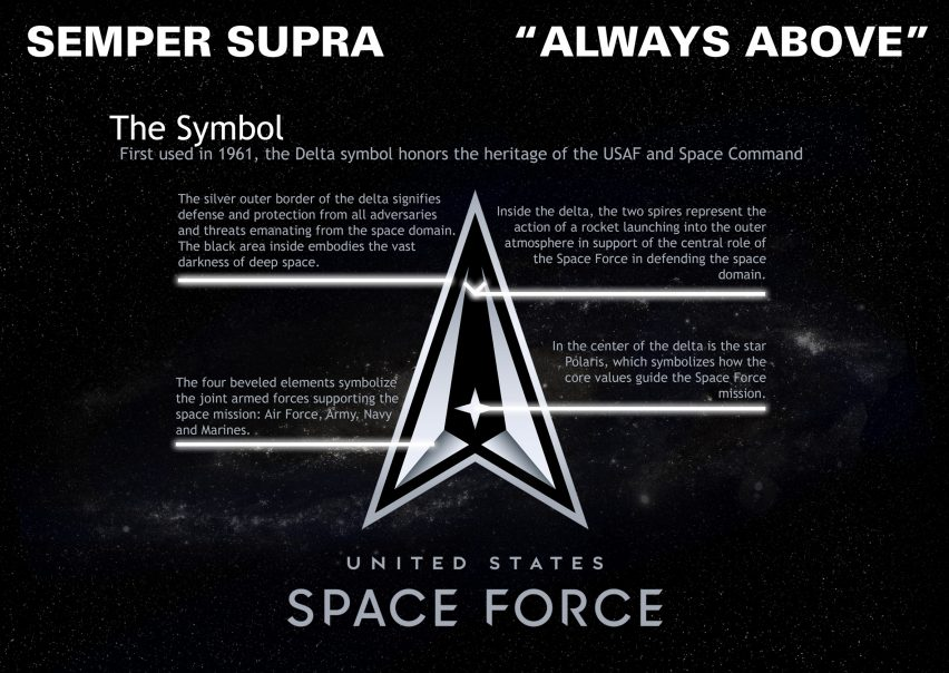 US space force unveils logo