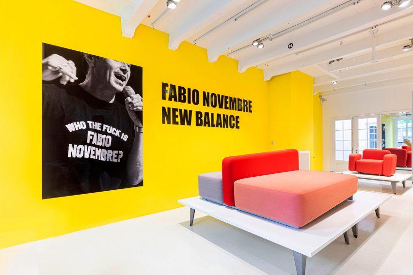 The New Balance sofa by Fabio Novembre