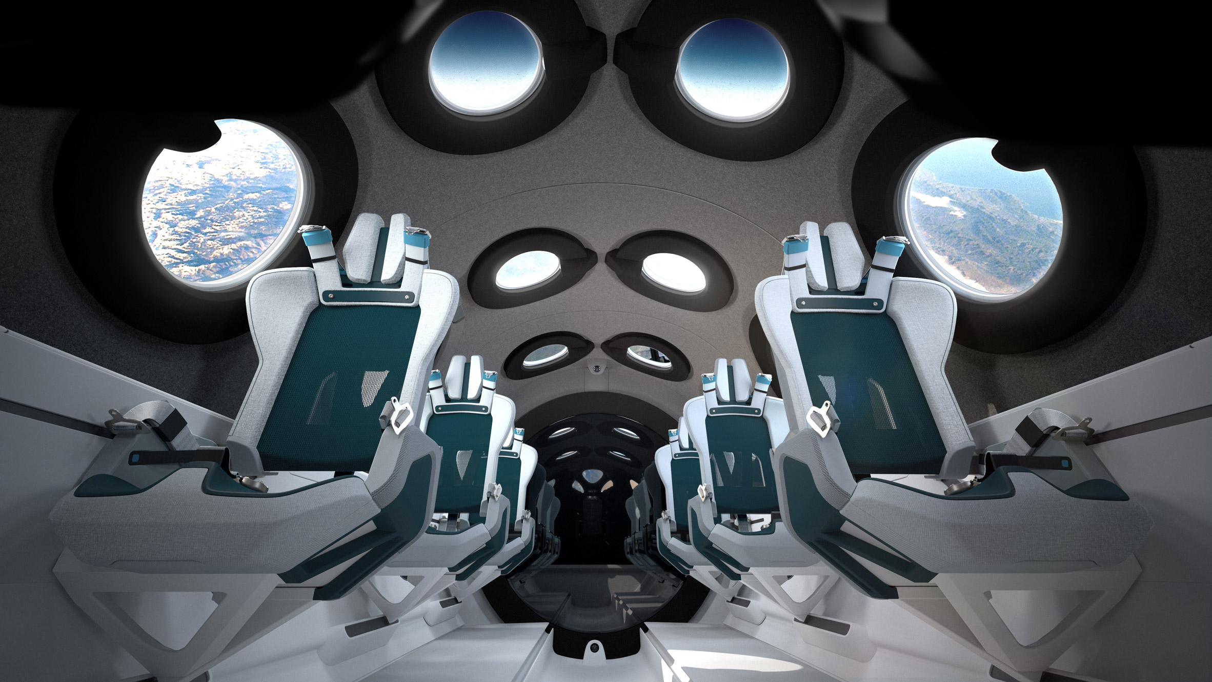 Virgin Galactic unveils SpaceshipTwo cabin interior designed with Seymourpowell