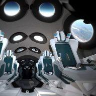 Seymourpowell designs Virgin Galactic spaceship cabin to maximise views of Earth
