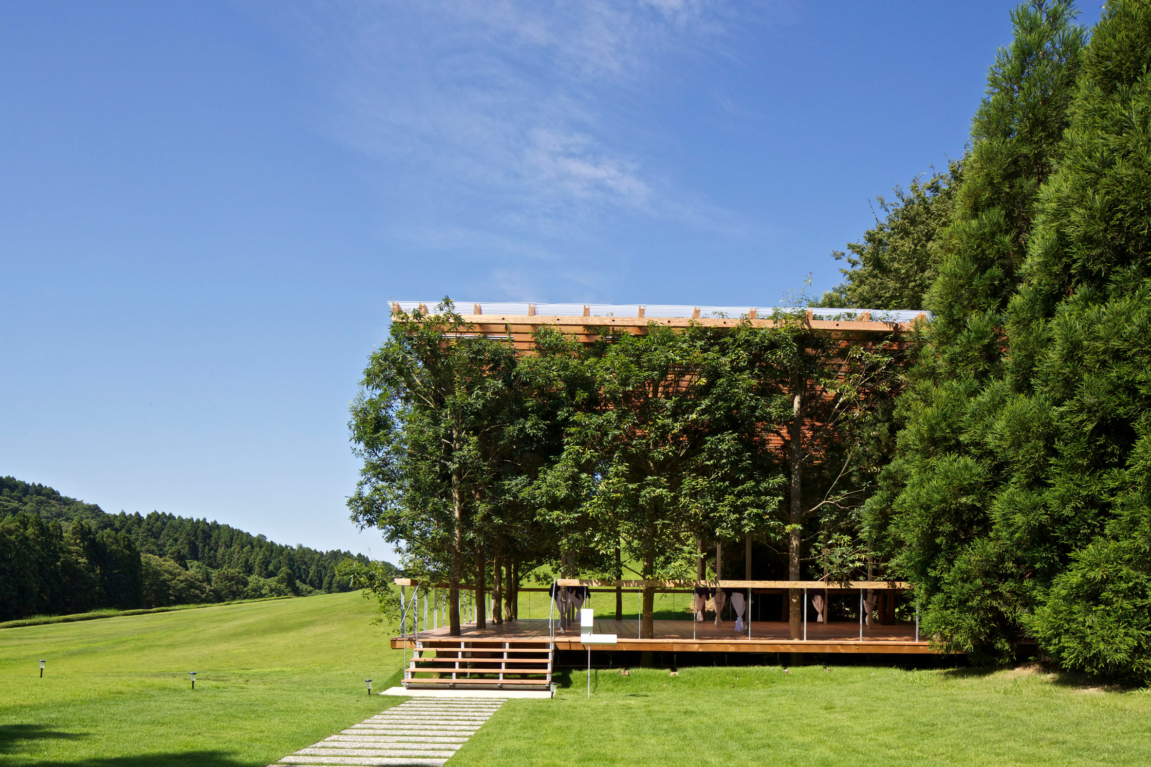 White Arbor and Open Air Theater by APL Design Workshop