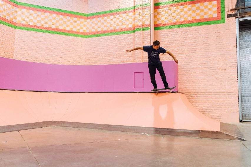Colorama skate park within La Condition Publique in Lille, France, by Yinka Ilori