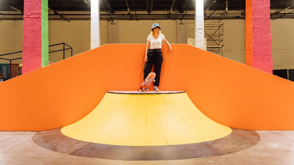 """Yinka Ilori creates """"joy and excitement"""" with colourful skate park in Lille"""