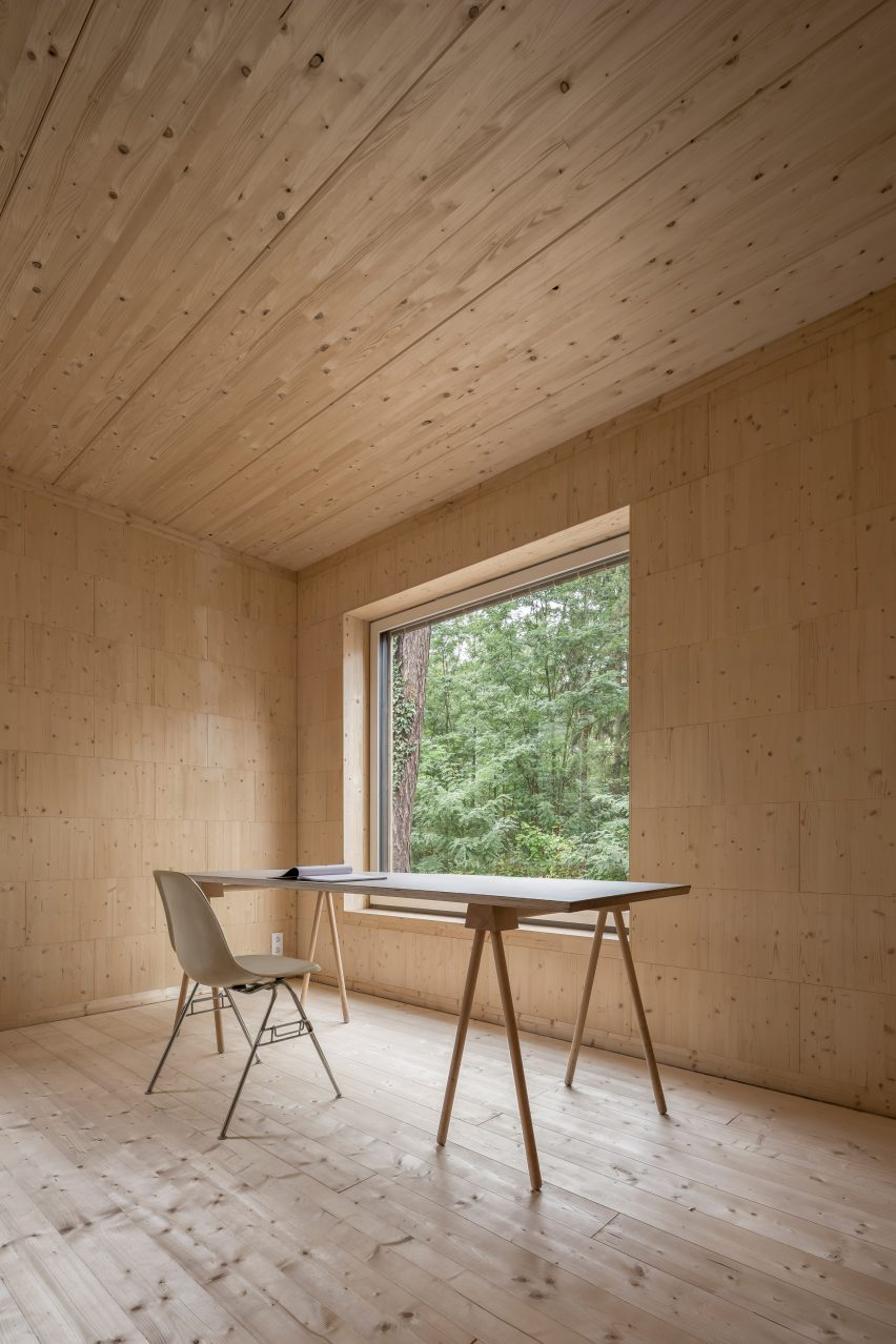 Haus Koeris timber house in Klein Köris, Germany, by Zeller & Moye