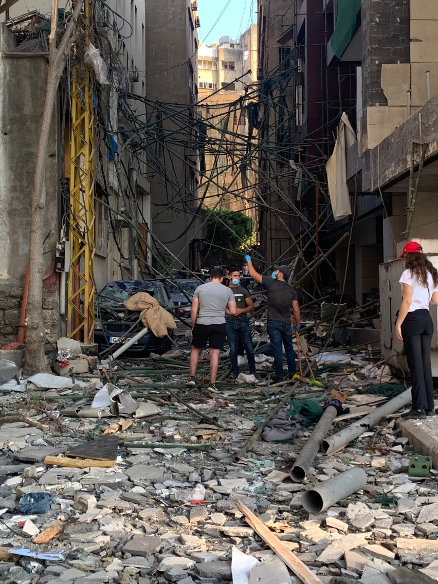 Street in Beirut after explosion