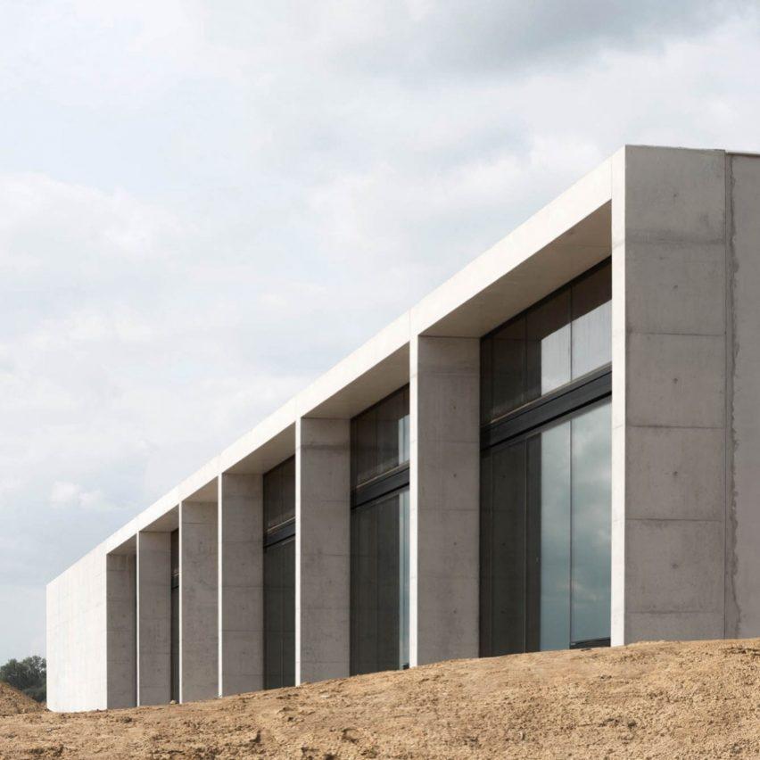 Facade of the crematorium
