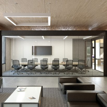 The KOVA Commercial Modular Conference Room is a comprehensive kit of parts including walls, windows, lighting, connectivity and accessories for assembling a complete interior workspace.