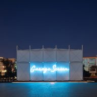 "SNKH creates pop-up cinema within ""inverted Bedouin tent"" in Moscow"