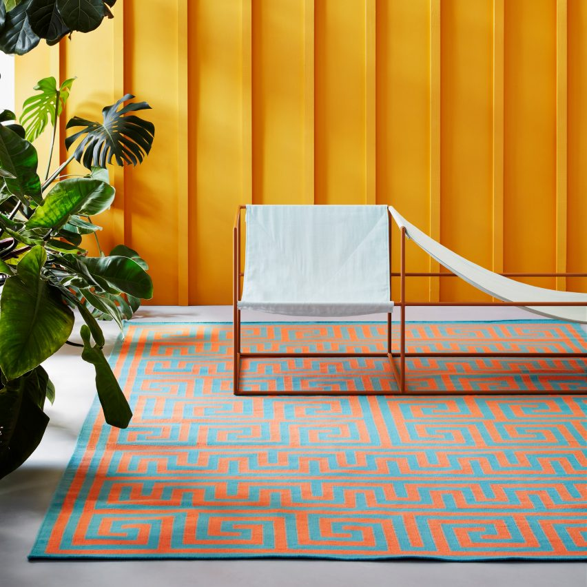 Adam Nathaniel Furman designs colourful graphic rug collection for Floor Story