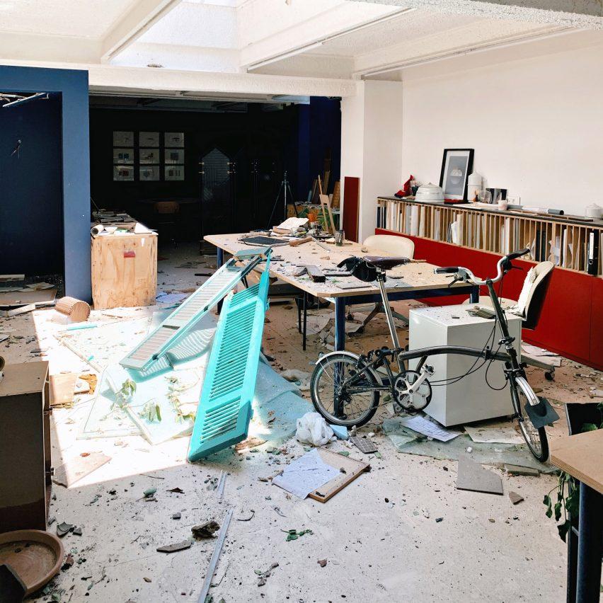 David/Nicolas studio after the Beirut explosion