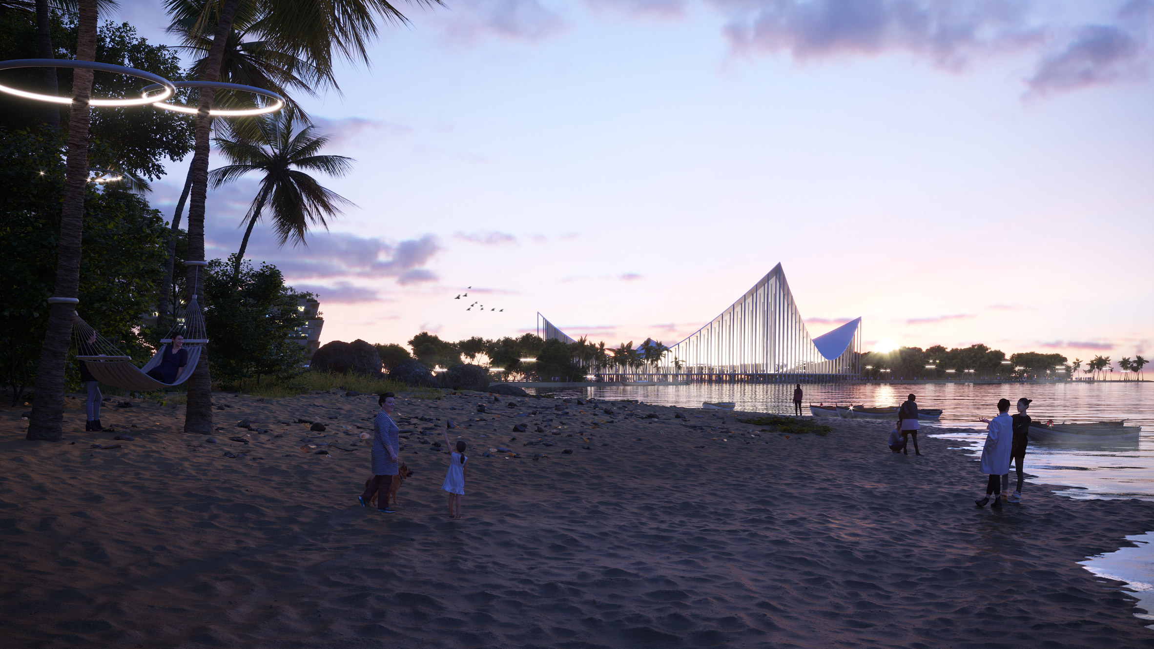 BiodiverCity masterplan by BIG for Penang Island