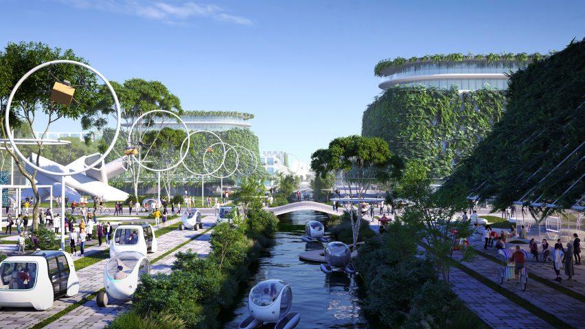 BiodiverCity masterplan by BIG for Penang Island