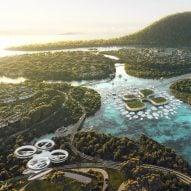 "BIG reveals masterplan for ""urban lilypads"" off coast of Penang Island"