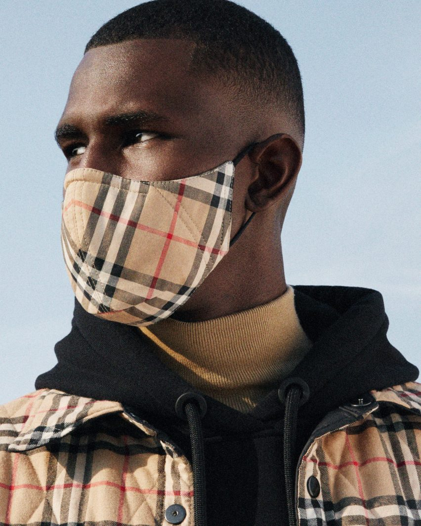 Burberry Releases Face Mask With Signature Check On Antimicrobial Fabric