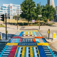 Camille Walala unveils Les Jumeaux street artwork in colourful New London Fabulous style