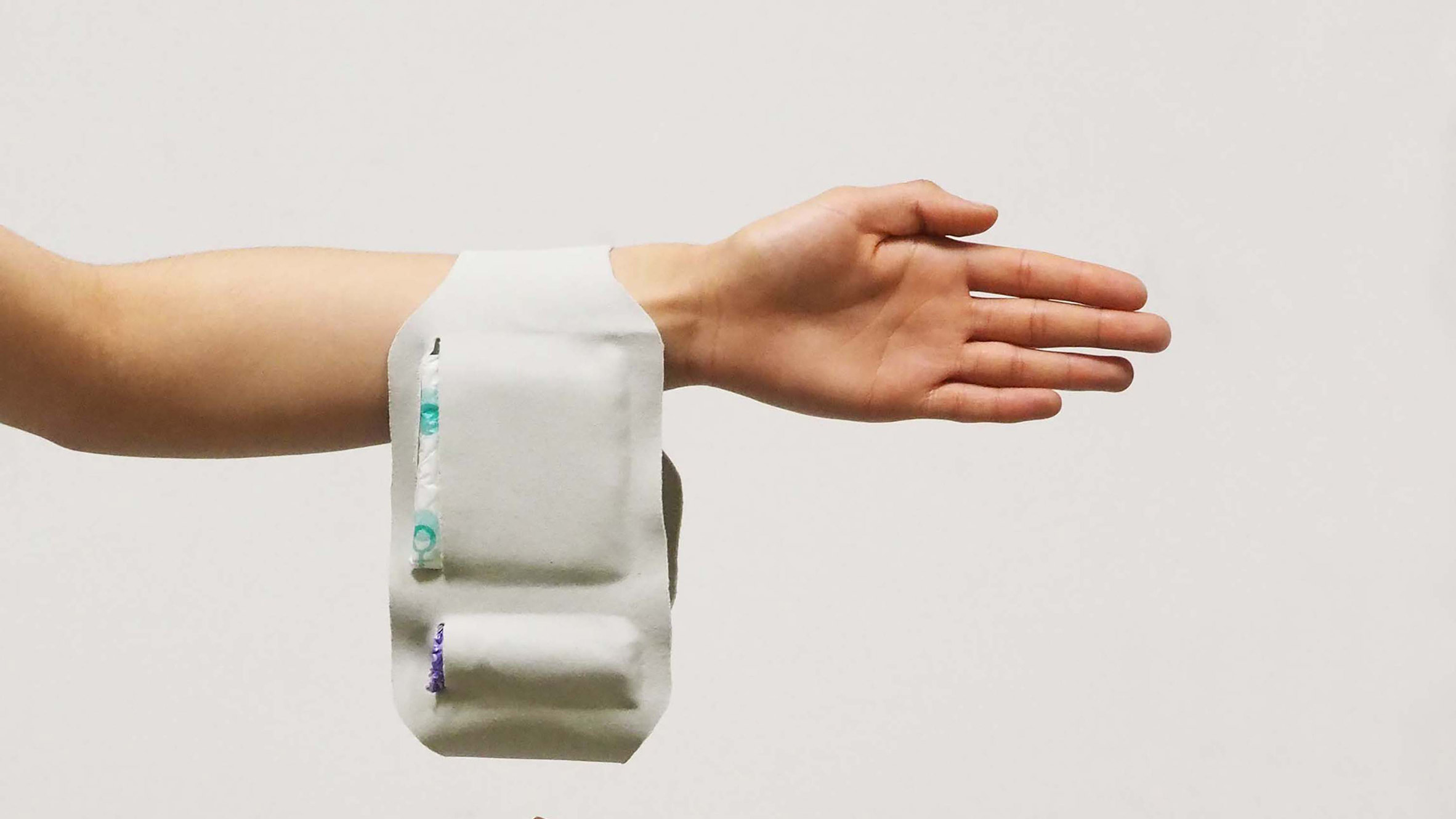 """Carrie is a """"wearable pocket"""" for soldiers and police officers to store period products"""