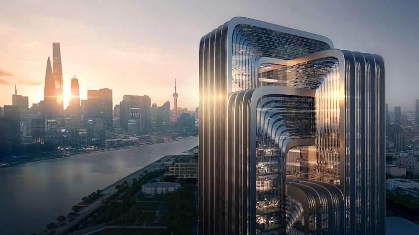 Visual of Zaha Hadid Architects proposal for CECEP Shanghai Campus