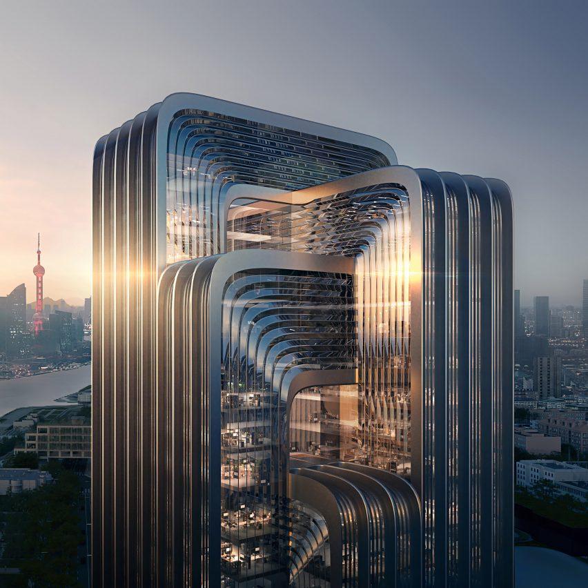 Visual of Zaha Hadid Architects proposal for CECEP Shanghai Campus