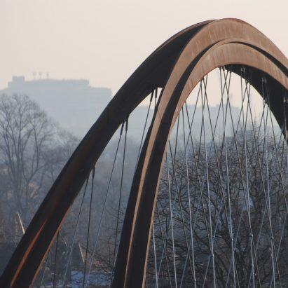 Chiswick Park Footbridge by Useful Studio in Chiswick, west London