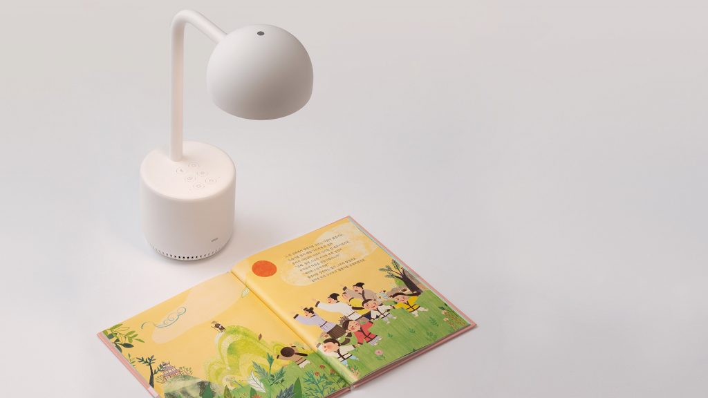 Clova is an AI-powered lamp that reads books to children