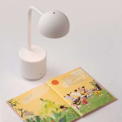 Clova Lamp is an AI-powered light that reads books to children