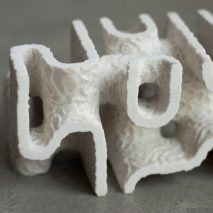 Coral Carbonate 3D-printed units by Objects and Ideograms
