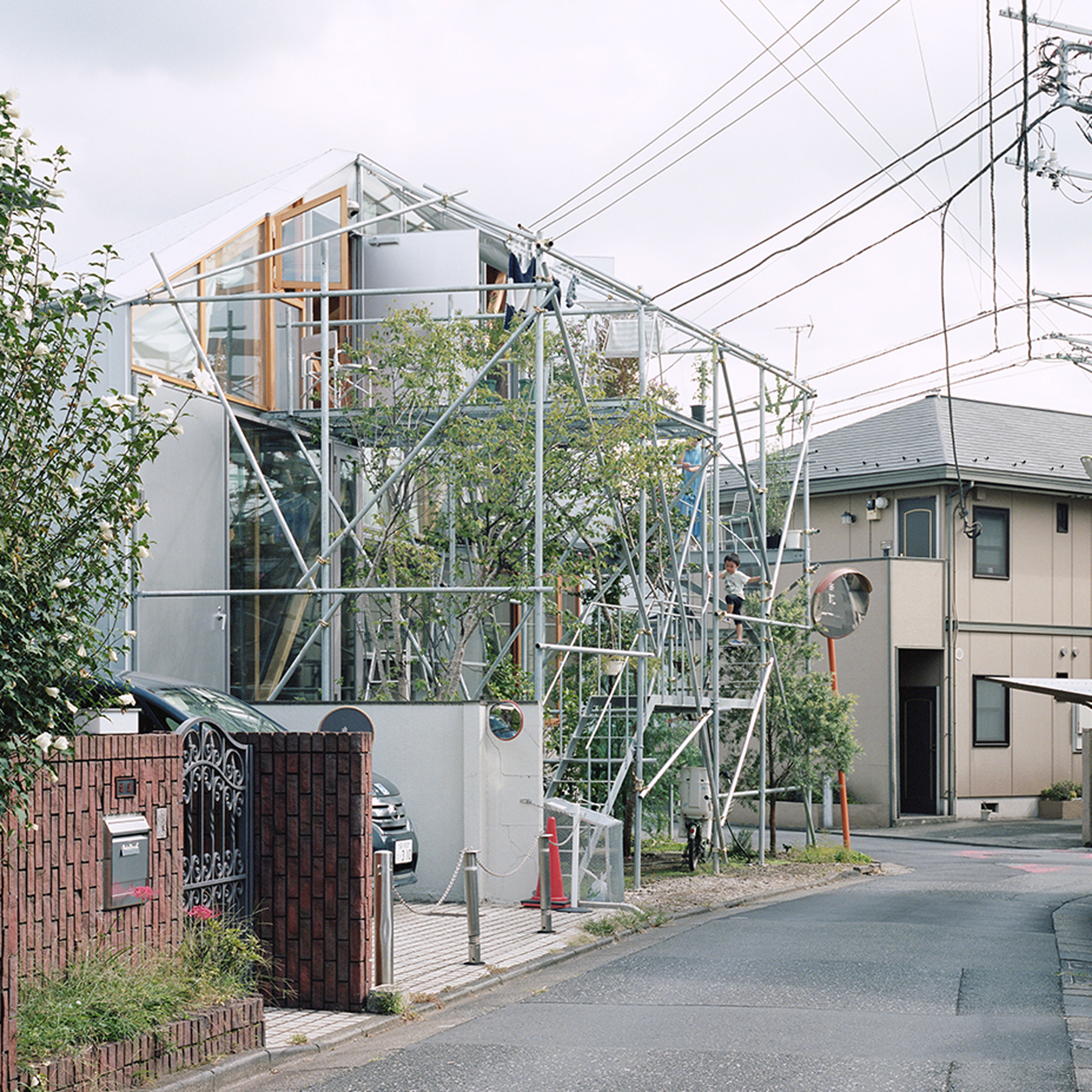 The scaffold facade of Daita2019, Japan, by Suzuko Yamada