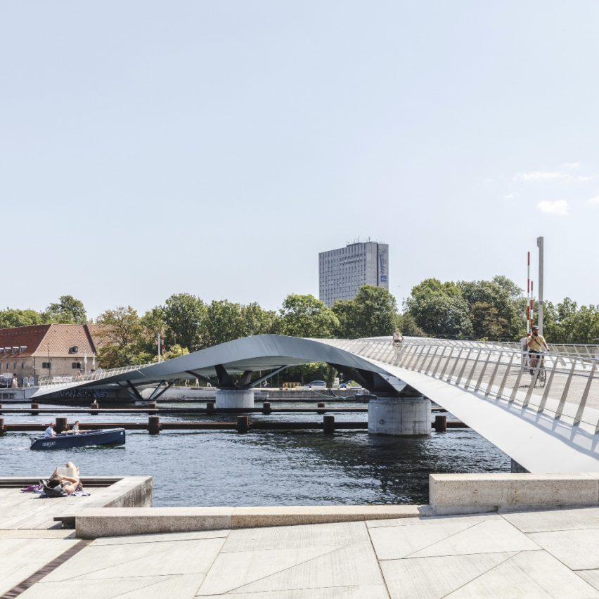 Lille Langebro bridge in Copenhagen, Denmark, by WilkinsonEyre
