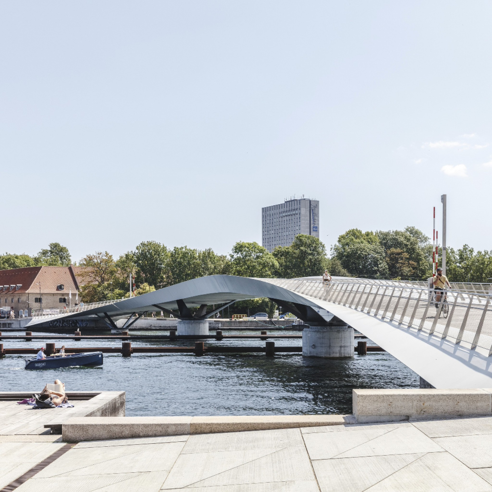 Lille Langebro bridge in Copenhagen, Denmark, by WilkinsonEyre