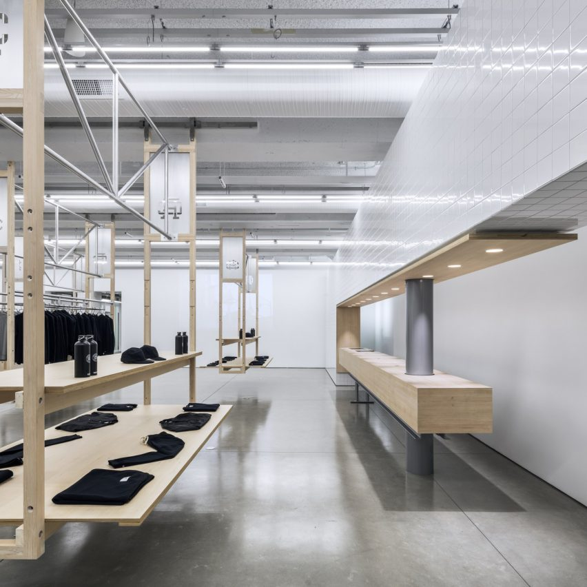 Reigning Champ in Los Angeles, US, by Peter Cardew Architects