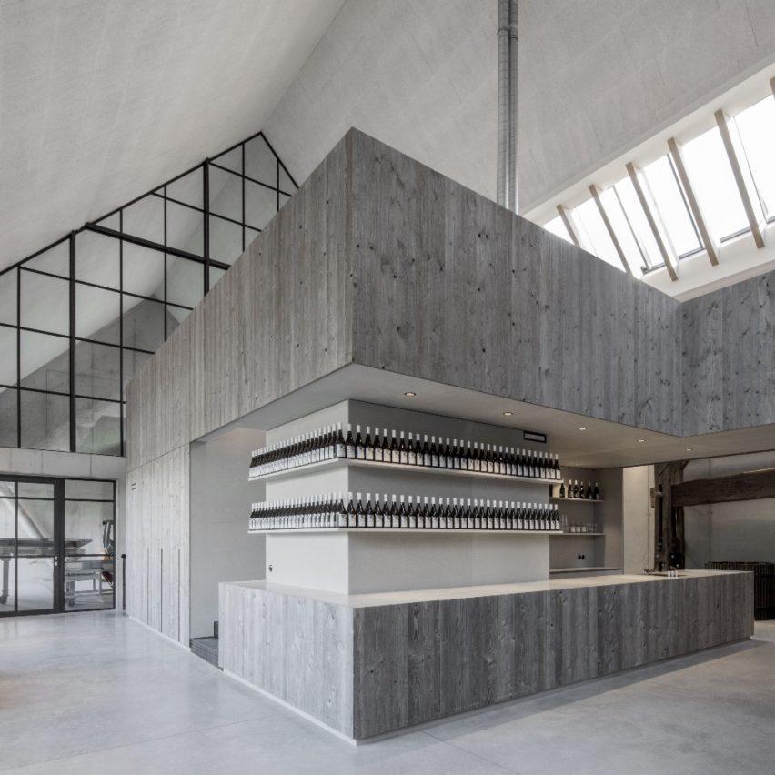 Weinmanufaktur Clemens Strobl in Kirchberg am Wagram, Austria, by Destilat Design Studio