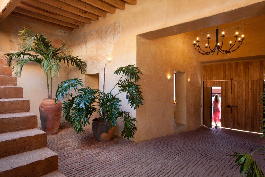 Entrance to Escondido Oaxaca Hotel by Decada Muebles