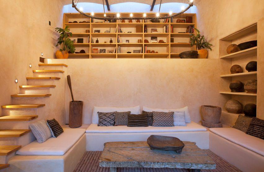 Culture room at Escondido Oaxaca Hotel by Decada Muebles