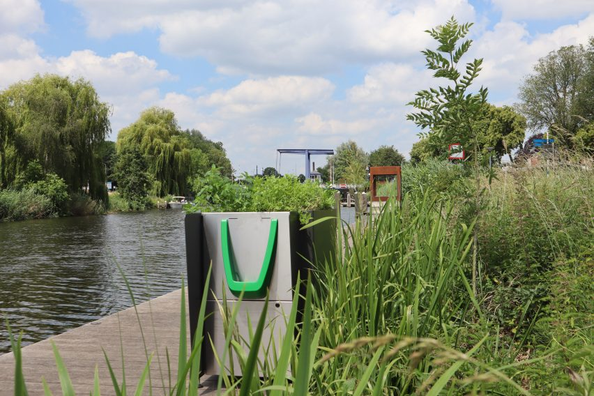 GreenPee sustainable urinal planter in Amsterdam