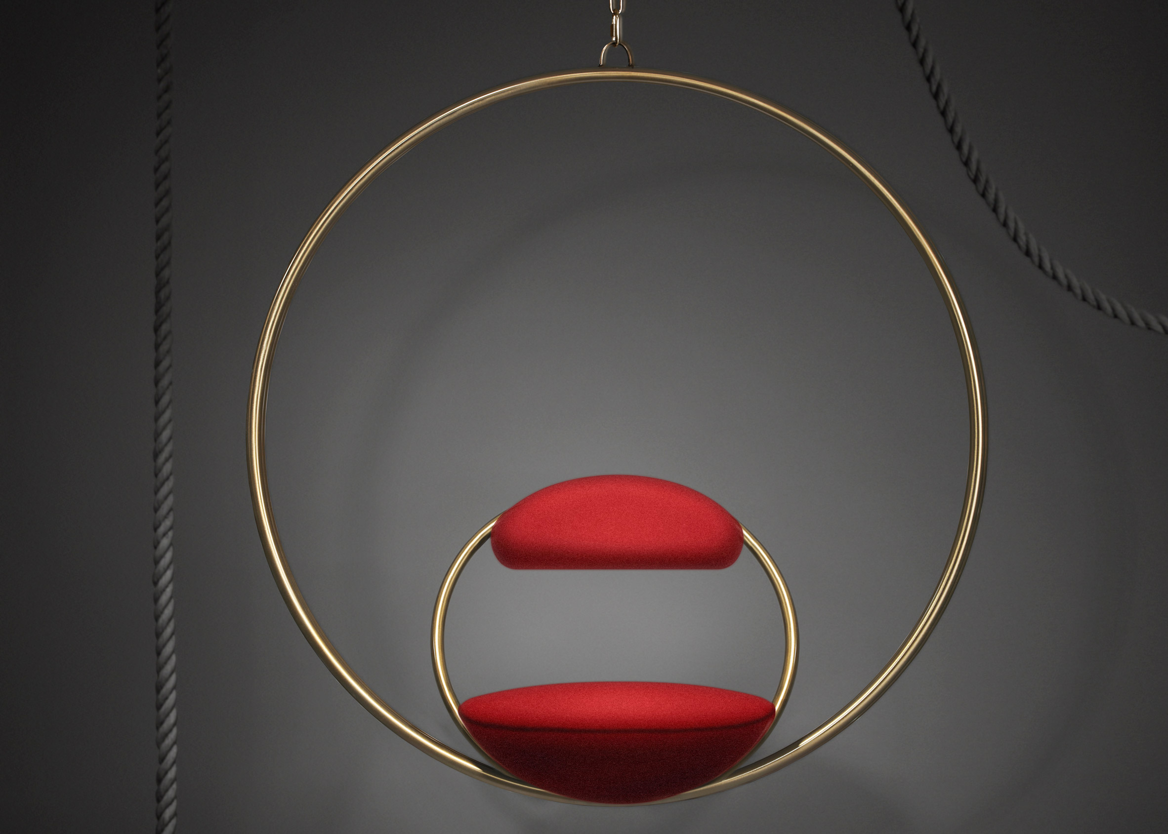 Hanging Hoop Chair by Lee Broom