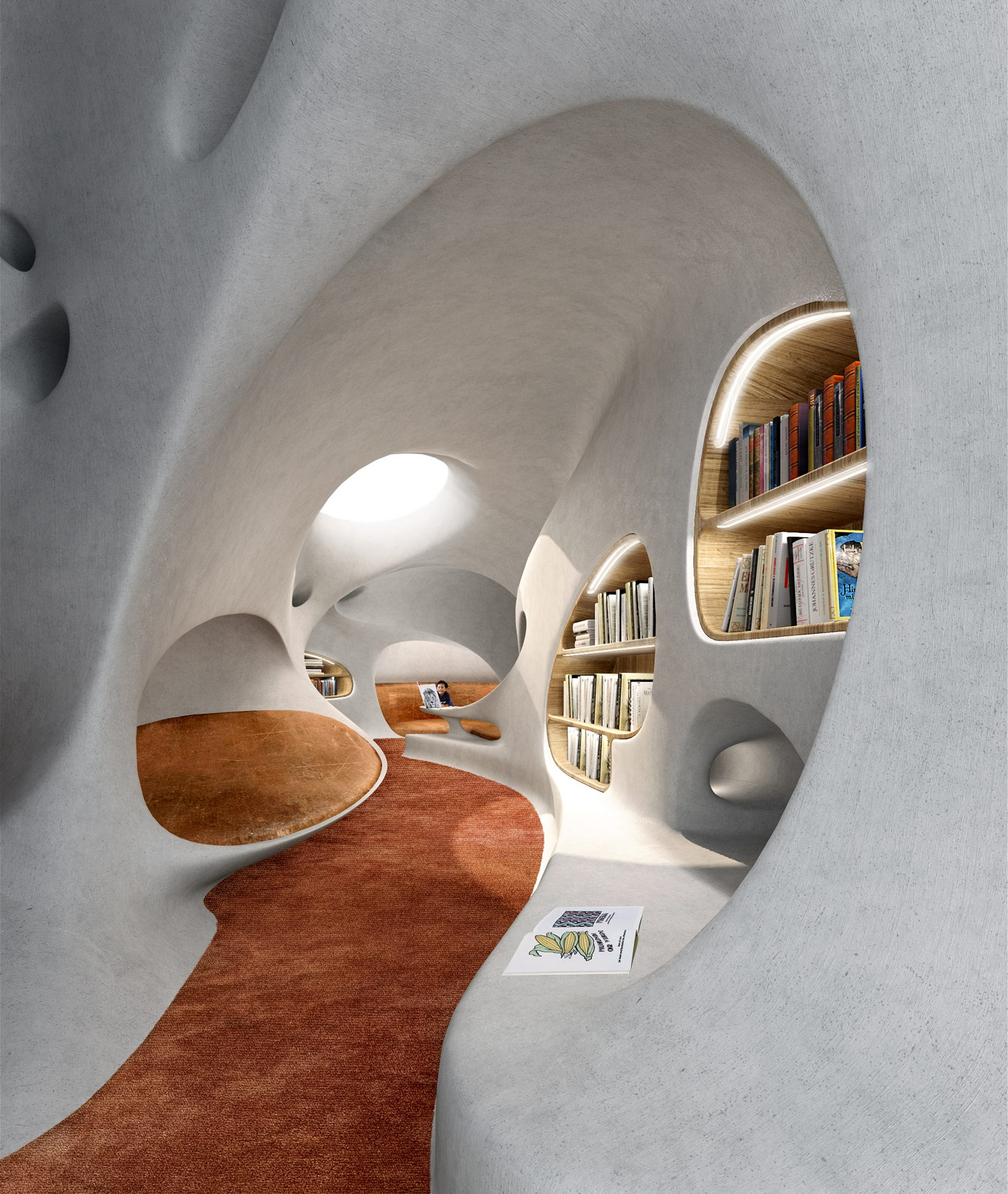Wormhole Library overlooking the South China Sea in Haikou by MAD architects