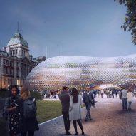 "Norman Foster unveils ""uniquely British"" reusable temporary parliament"
