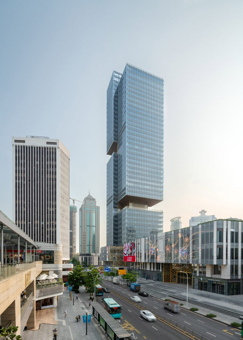 Prince Plaza skyscraper by OMA in Shezhen