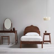 Pinch pairs classic materials with minimal shapes for latest bedroom furniture