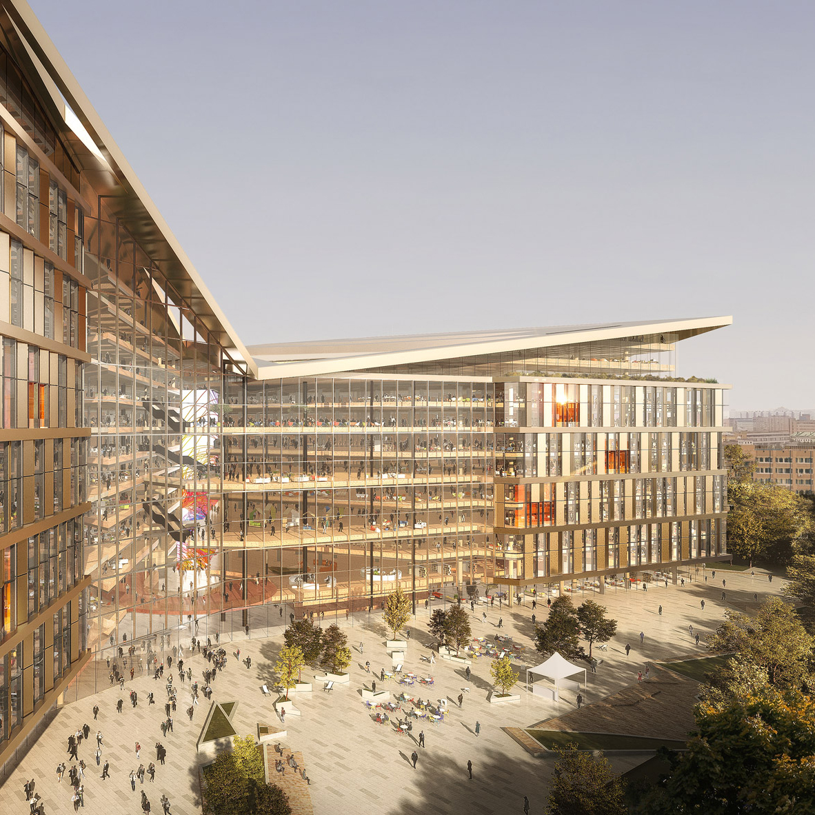 PLP Architecture reveals titanium-clad headquarters for Yandex in Moscow